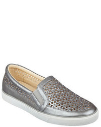 Nine West Perforated Metallic Sneakers