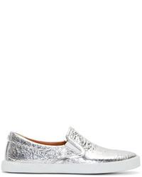 d45847e92d3 Jimmy Choo Women s Silver Sneakers from SSENSE