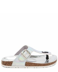 Forever 21 Buckle Strap Thong Sandals