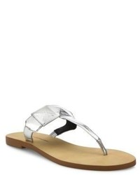 1e08c0798ab ... Rebecca Minkoff Eloise Metallic Leather Thong Sandals
