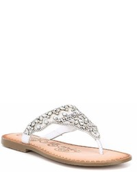 Naughty Monkey Loving U Jeweled Thong Sandals