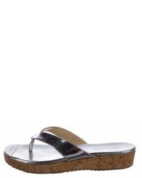 Jimmy Choo Metallic Thong Sandals