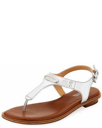 e49dad67eb1 ... Sandals Out of stock · MICHAEL Michael Kors Michl Michl Kors Mk Plate  Metallic Saffiano Flat Thong Sandal