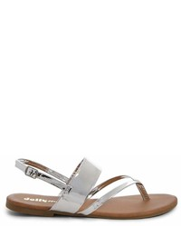 Forever 21 Yoki Shoes Faux Patent Leather Thong Sandals