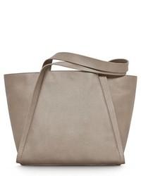 Akris Medium Alex Metallic Leather Shopper Brown