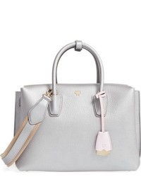 MCM Medium Milla Leather Tote Metallic