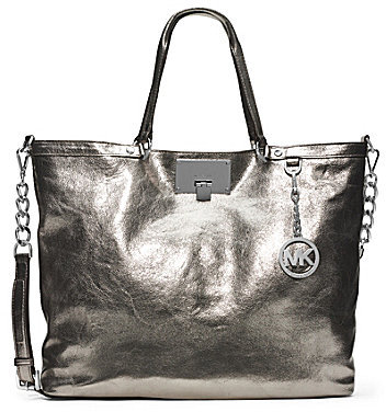 small tote michael kors michael kors silver tote bag. Black Bedroom Furniture Sets. Home Design Ideas