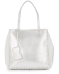 Nine West Hadley Studded Metallic Faux Leather Tote