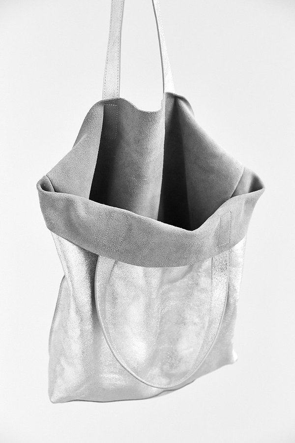 ... Silver Leather Tote Bags Silence   Noise Silence Noise Metallic Leather  Tote ... 9462a0e576c90