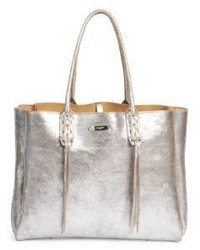 Lanvin Tasseled Metallic Leather Tote