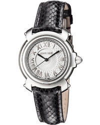 Roberto Cavalli 35mm Stainless Steel Watch W Leather Strap