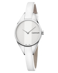 Calvin Klein Achieve Rebel Leather Band Watch