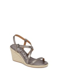 Calvin Klein Bellemine Espadrille Wedge Sandal