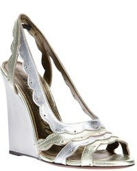 Lanvin Metallic Wedge Sandals