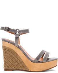 Lanvin Wedge Sandal Leather Espadrilles