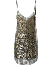 Roberto Cavalli Sequin Embellished Leopard Effect Dress