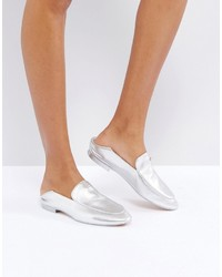 Ted Baker Buijana Silver Slip On Loafers