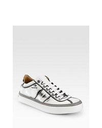 Silver Low Top Sneakers
