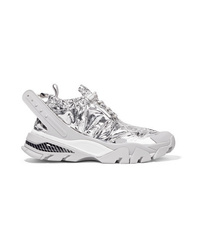 Calvin Klein 205W39nyc Carae Metallic Shell And Rubber Sneakers