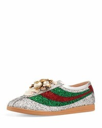 Gucci Falacer Glittered Low Top Sneaker