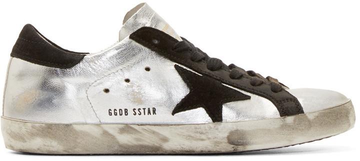 Oie D'or De Luxe Marque Chaussures Super Star Affligées - Noir uHqvqI