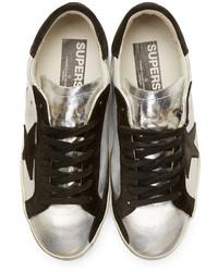Silver and Black Superstar Sneakers Golden Goose EVVu4n4wYL