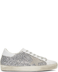 Golden goose ssense silver superstar sneakers medium 1044403