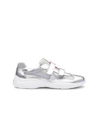 Prada Metallic Touch Strap Sneakers