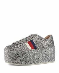 Gucci Peggy Glitter Platform Low Top Sneaker