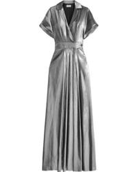 Temperley London Lam Wrap Effect Maxi Dress