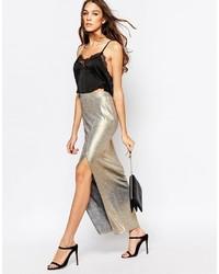 Silver Maxi Skirt