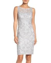 Adrianna Papell Mesh Sheath Dress