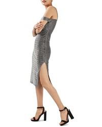 Topshop Cold Shoulder Midi Dress