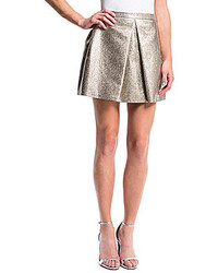 1 STATE 1 State Pleat Front Metallic Mini Skirt