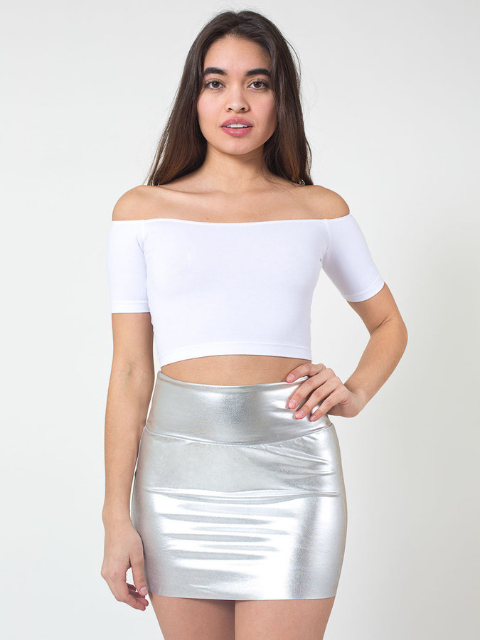 American Apparel Shiny Late Night Mini Skirt | Where to buy & how ...