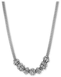 Anne Klein Silver Tone Mesh Rondelle Necklace