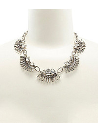 Badgley Mischka Belle Deco Fan Rhinestone Collar Necklace
