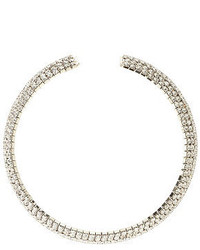 Charlotte Russe Curved Rhinestone Choker Necklace