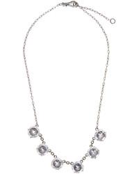 Bottega Veneta Cubic Zirconia And Oxidised Silver Necklace