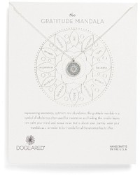 Dogeared Gratitude Mandala Necklace