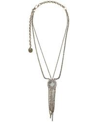 Lanvin Hanging Stone Detail Necklace