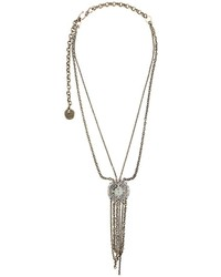 Lanvin Hanging Stone Detail Necklace