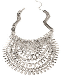 Forever 21 Layered Rhinestone Statet Necklace