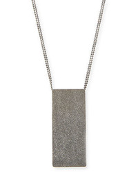 Brunello Cucinelli Metallic Dog Tag Necklace