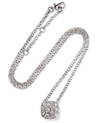Pomellato Nudo Solitaire 18 Karat White And Gold Diamond Necklace