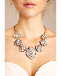 Forever 21 Ornate Rhinestone Statet Necklace