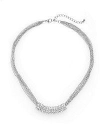 Punch Pav Bar Chain Collar Necklacesilvertone
