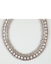 Full Tilt Rhinestone Chain Statet Necklace