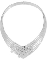 Robert Lee Morris Soho Robert Lee Morris Soho Silver Tone Sculptural Overlapped Collar Necklace