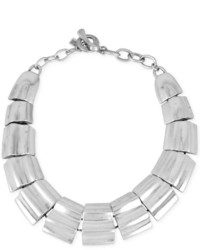Robert Lee Morris Soho Silver Tone Segted Collar Necklace